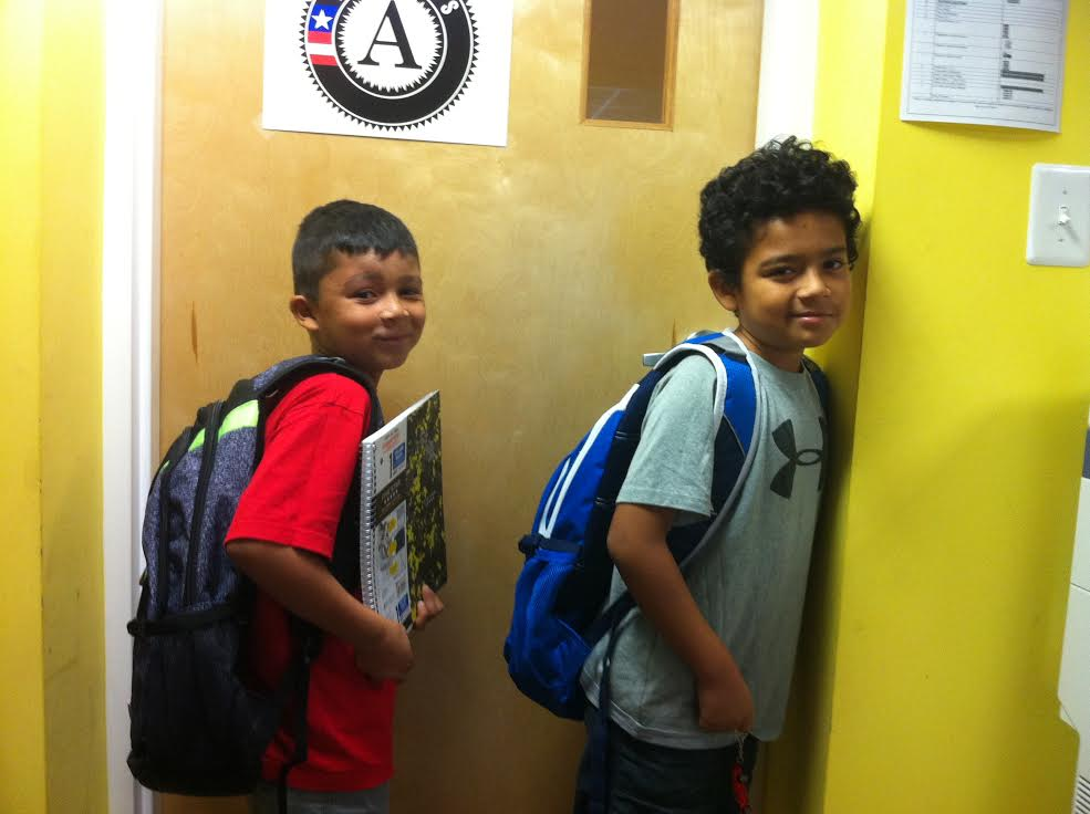 Recipients of Community Lodgings backpacks